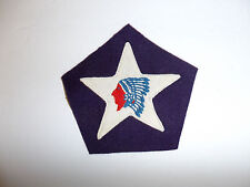 b0685 WW1 USMC 9th MG Company Marine Regiment 2 division Indian Chief patch R5C