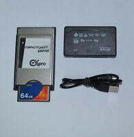 64 GB Karte PCMCIA Adapter + Kartenleser für Mercedes Benz Comand APS NTG4