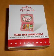 """2015 Hallmark Keepsake - """"Teeny Tiny Sweets Shop"""" Miniature Ornament New Boxed"""