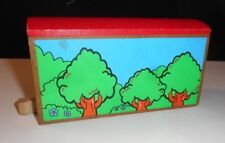 Wood Red roof Tree-Lined Train track Tunnel for Thomas, Brio