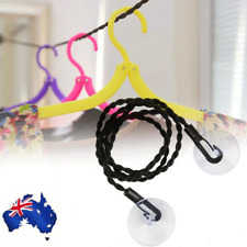 Travel Clothesline pegless Camping Clothes Line Washing Hanging Airer Rope AU
