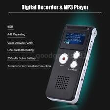 LCD Digital 8GB Diktiergerät Aufnahmegerät Musik Voice Audio Recorder Mp3 W0F5