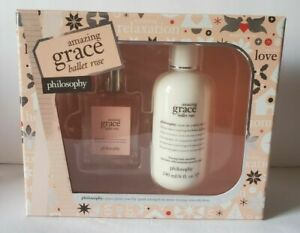 Philosophy NEW AMAZING GRACE BALLET ROSE Eau De Toilette Spray + Body Lotion SET