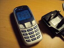 Retro Simple Barato niños Siemens Benq A62 Teléfono Móvil en Naranja + Cargador
