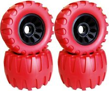 113X64mm Off Road Longboard/Mountainboard Rubber Wheel W/Hard Core Set of 4 Red