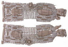 Antique Japanese Pair Iron Kote Arm Guards Samurai Armor Chainmail Kusari Yoroi
