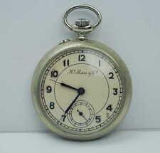 Antike Taschenuhr von Henry Moser & Cie. ( Metallgehäuse ) defekt