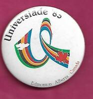 RARE VINTAGE EDMONTON UNIVERSIADE 83 PINBACK  (INV# C1072)