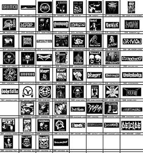 D - Patches - Punk, Crust, Grind Core, Doom, Vegan, DISCHARGE, Anarcho, Metal,