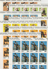 Zaire 4292 - 1981 NORMAN ROCKWELL ART set of 8 in COMPLETE SHEETS of 20 u/m