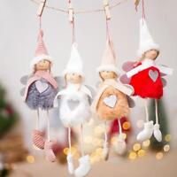 1X Christmas Cute Angel Plush Doll Toy Xmas Tree Pendants Ornaments Party Decor