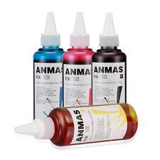 Pro 4 Color Anmas 100ml Cartridge Refill Ink Fit All Printer Bottle Dye Ink SET