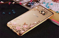 Luxury Case for Samsung Galaxy S7 Edge Hybrid Rubber Crystal Diamond Phone Cover