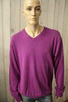 TOMMY HILFIGER Uomo Maglione Sweater Man Maglietta Jersey Shirt Taglia 2XL