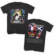 Official Def Leppard Men's T Shirt Hysteria World Tour 1987 Rock Band Merch Top