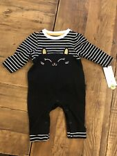 Cat & Jack Baby Girl Halloween Cat Ruffle Bottom One Piece Outfit Size 0-3 Month