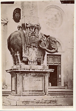 Italie, Rome, Obélisque de la piazza della Minerva Vintage silver print,