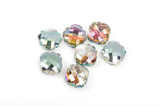 10 QUATREFOIL AB crystal beads fct, northern Lts, vitrail, 20mm bgl1261