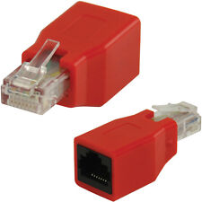RJ45 CAT6 Crossover Adapter/Connector-Male to Female Ethernet Network Converter
