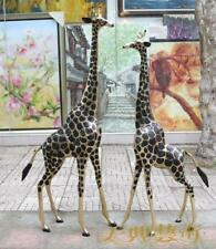 Western Bronze giraffe statue Huge Two Giraffe Art Deco Sculpture pair