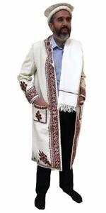 Afghan Chitral Coat Chugha Pakol Patu Mens Wool Kashmir Chugah Shawl Pakol Long