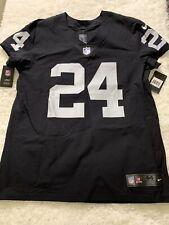Marshawn Lynch Short-sleeved Football Jersey Adult Mens Short-sleeved Outdoor Casual T-shirt Sportswear-black-S TOMORROWSTRA Las Vegas Raiders #24 American Football Jersey 160~175