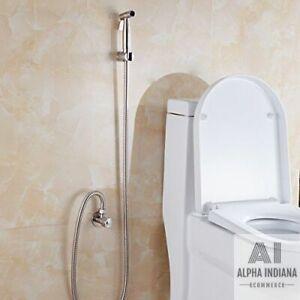 Support de Toilette Douchette Bidet Spray en Acier Inoxydable Titulaire WC ST19