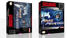 Space Megaforce Super Aleste SNES Repro Game Case Box + Cover Art work (No Game)