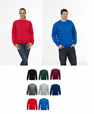 UNEEK Sweatshirt XS-4XL schwarz rot blau grün grau marine Shirt Pullover 8 Farbe