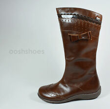 Primigi Girls Nira Tan Leather Zip Boots UK 9 EU 27 US 9.5 RRP £61.00
