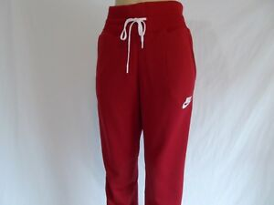 NWT NIKE Sportswear POLYKNIT JOGGER SWEATPANT Retro UNIVERSITY RED AR4403 Womens