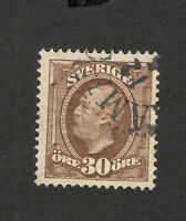SWEDEN-USED  STAMP - 30 ore - 1891/1910.