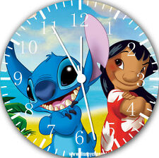 """Lilo & Stitch wall Clock 10"""" will be nice Gift and Room wall Decor E155"""