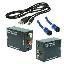 SunshineTronic Digital zu Analog Konverter + 0,7m Toslink(BlueLine)+USB-DC Kabel