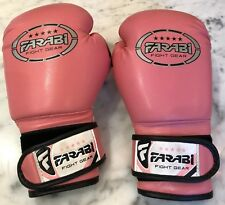 Farabi Kids Boxing Gloves, 6-oz for Martial Arts, Punching Bag in Pink