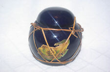 Antique Black Pottery Ginger Jar Bamboo Strip Bound Imported From Hong Kong 1889