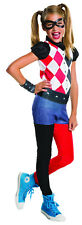 Harley Quinn Girls Costume DC Superhero Girls Costume Size Large 12-14