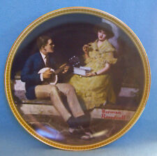 Knowles Collectors Plate Norman Rockwell Pondering On The Porch