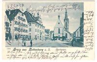 Rottenburg am Neckar, Hotel Bären und Marktplatz  1902