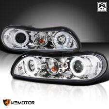1997-2003 Chevy Malibu Halo LED Projector Headlights Lamps Chrome
