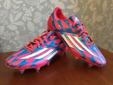 Adidas F10 Football Boots Pink and Blue UK 8