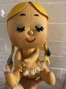 """Vintage Doll Beautiful Blonde ANGEL Wings Lenci 10"""""""