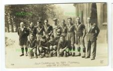 OLD POSTCARD SPAIN / SPANISH FOOTBALL TEAM PARIS OLYMPIC GAMES REAL PHOTO 1924