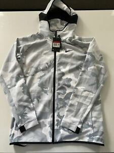 Nike Therma Flex Showtime White Camo Basketball Hoodie Men Size L AT4694-012