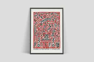 Keith Haring Exhibition Vintage Poster Print -  New York City 1983