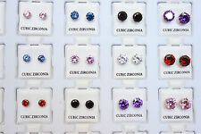 Wholesale 36pcs Cubic Zirconia CZ Women Earrings Studs Colors Quality Jewelry