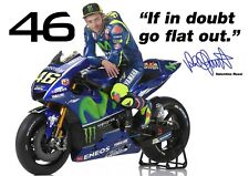 Valentino Rossi poster Quotes # 15 - Signed (copy) - motorcycle road racer - A4