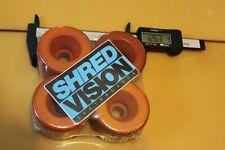 Vision Shred Neon + Original Blank 80's 63mm W1 Vintage Set 4 Skateboard Wheels
