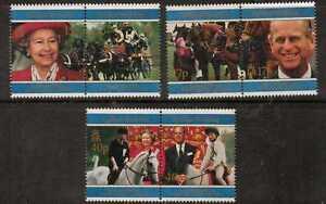S.GEORGIA&S.SANDWICH SG270/5 1997 GOLDEN WEDDING  MNH