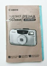 New listing Canon Sure Shot Prima 60 Zoom ZoomShot Camera Instruction User Manual Guide
